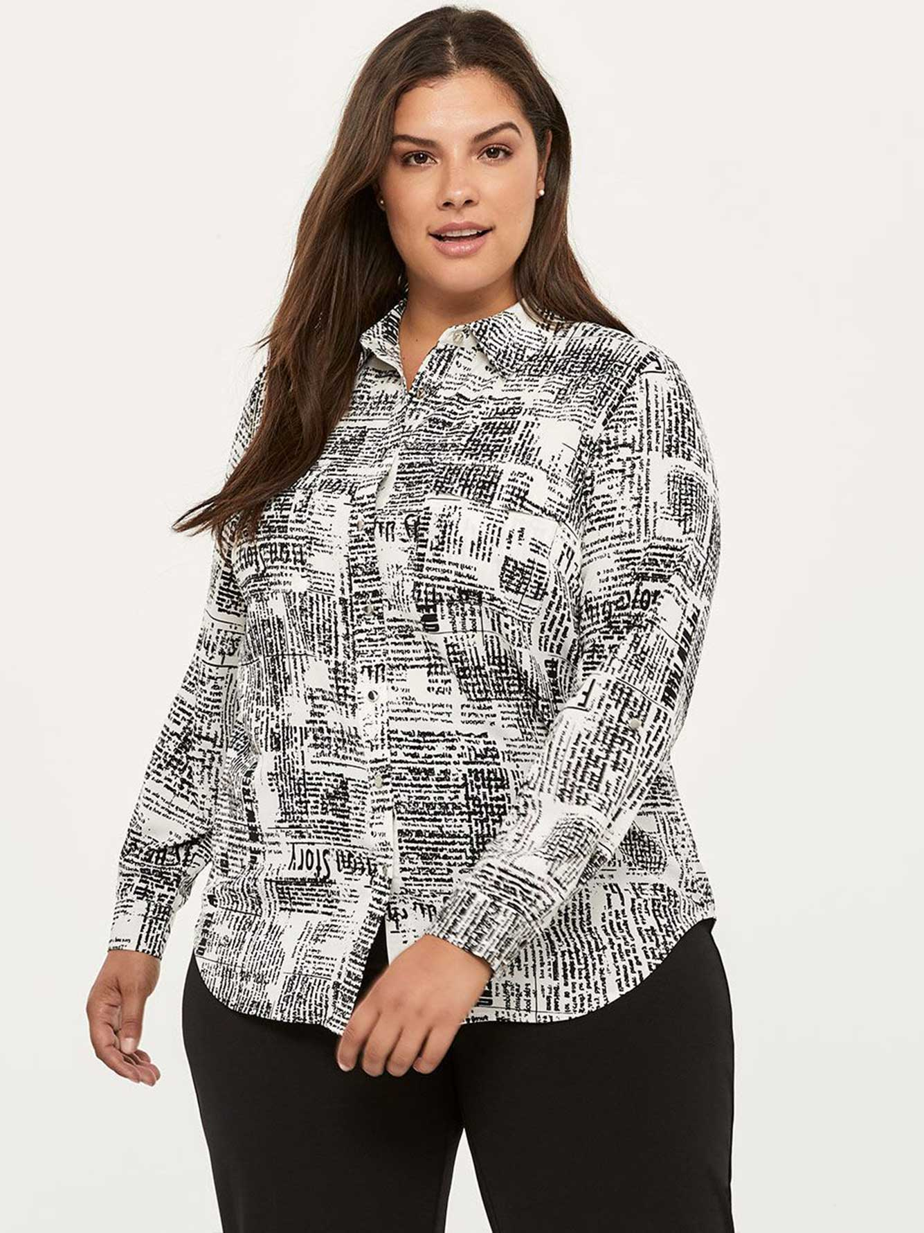 Printed Blouse with Pockets - In Every Story