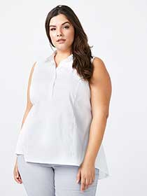 ONLINE ONLY - Sleeveless Peplum Blouse