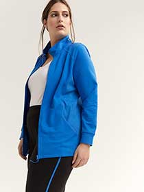 Long Sleeve Jacket with Mock Neck - ActiveZone