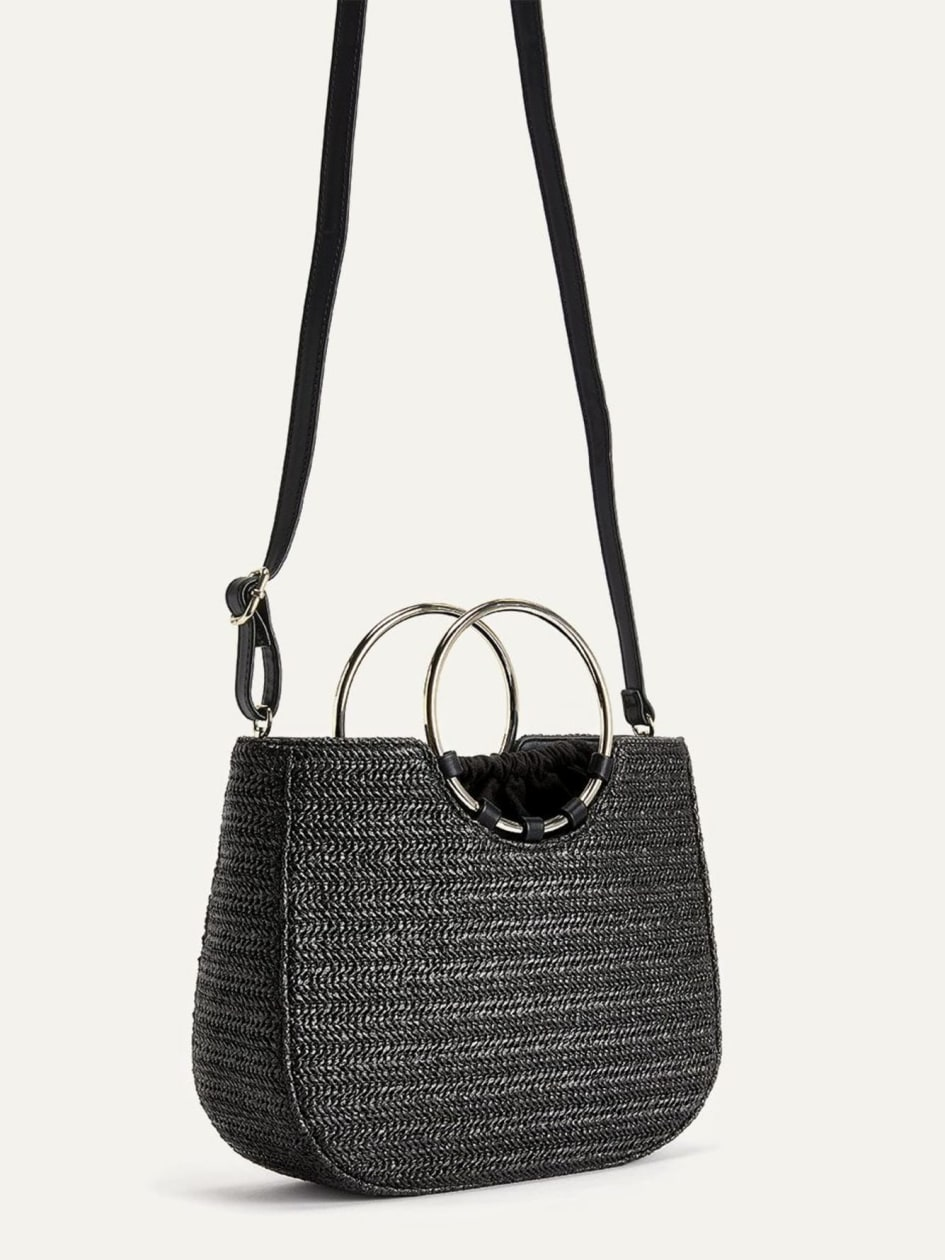 Straw Ring Satchel