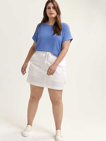 Woven Skort with Drawstring