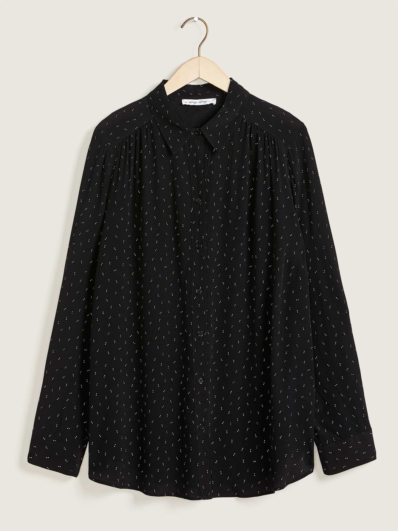 Printed Long-Sleeve Blouse - In Every Story