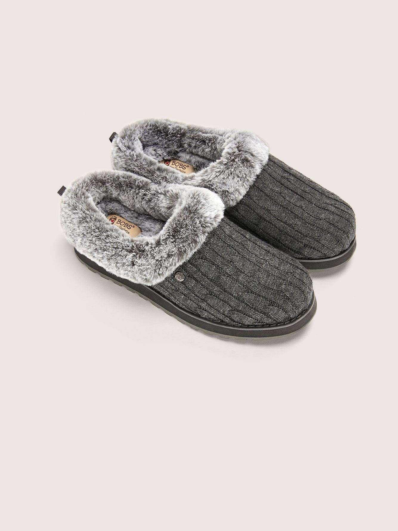 Wide Width Sweater Slippers - Skechers