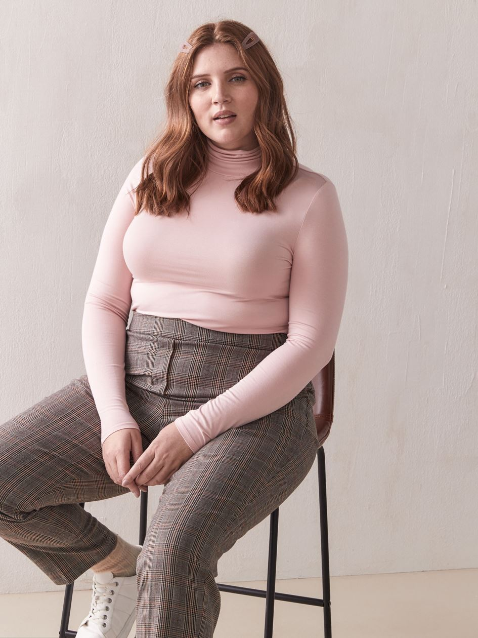 Long-Sleeve Pink Turtleneck - Addition Elle