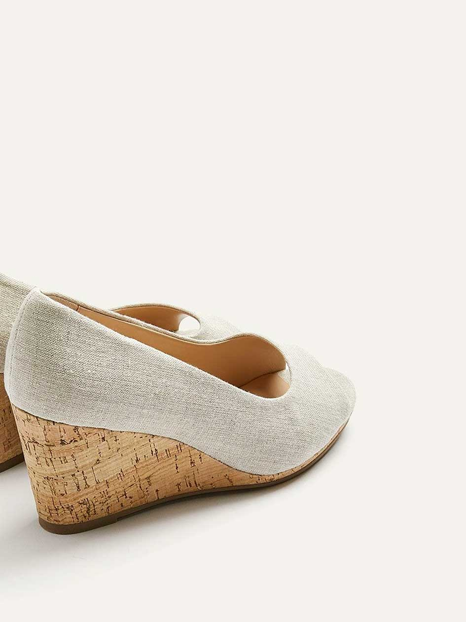 Extra Wide Cork Wedge Peep Toe Shoes