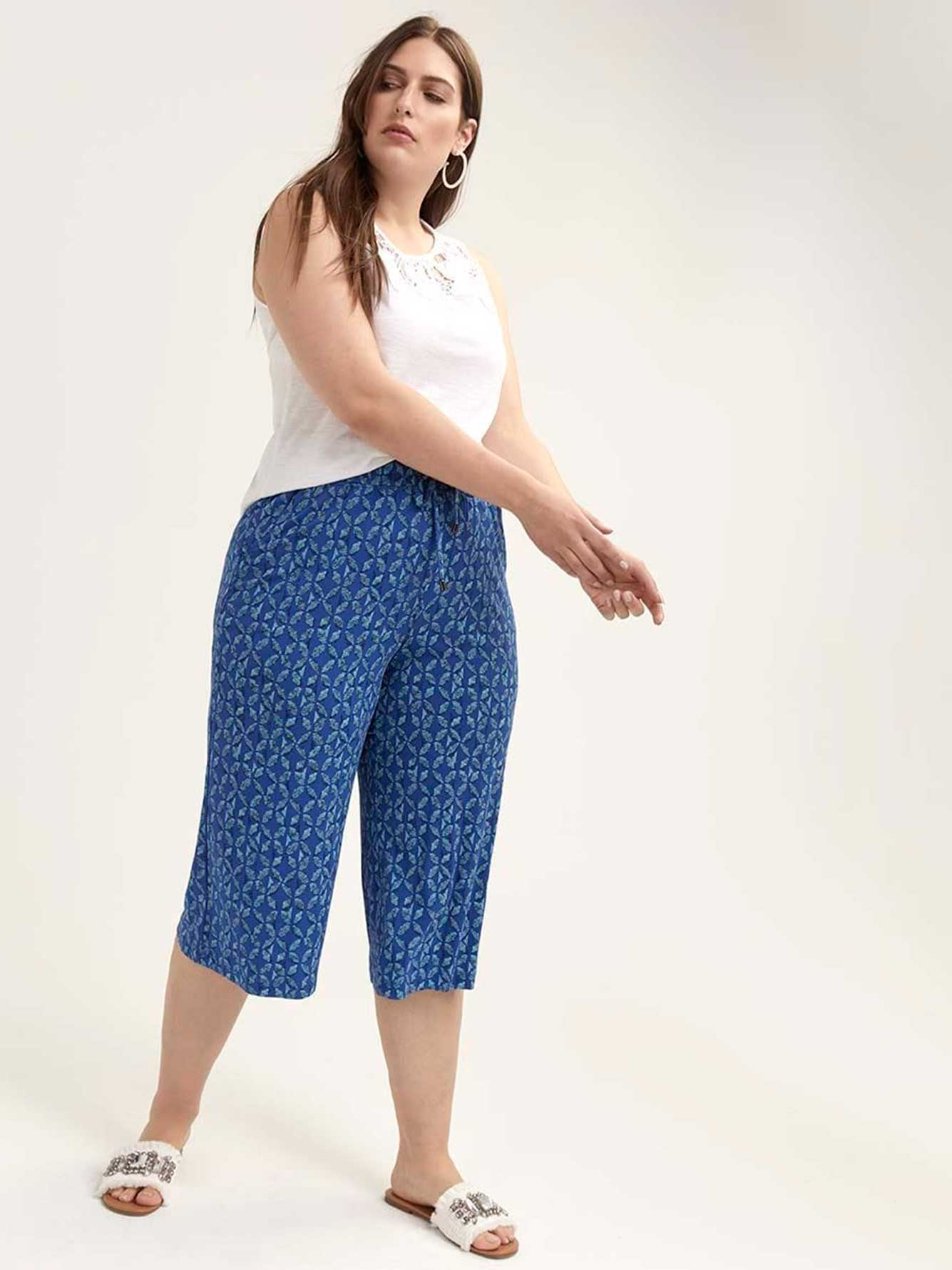 Printed Wide Leg Gaucho Pant - In Every Story