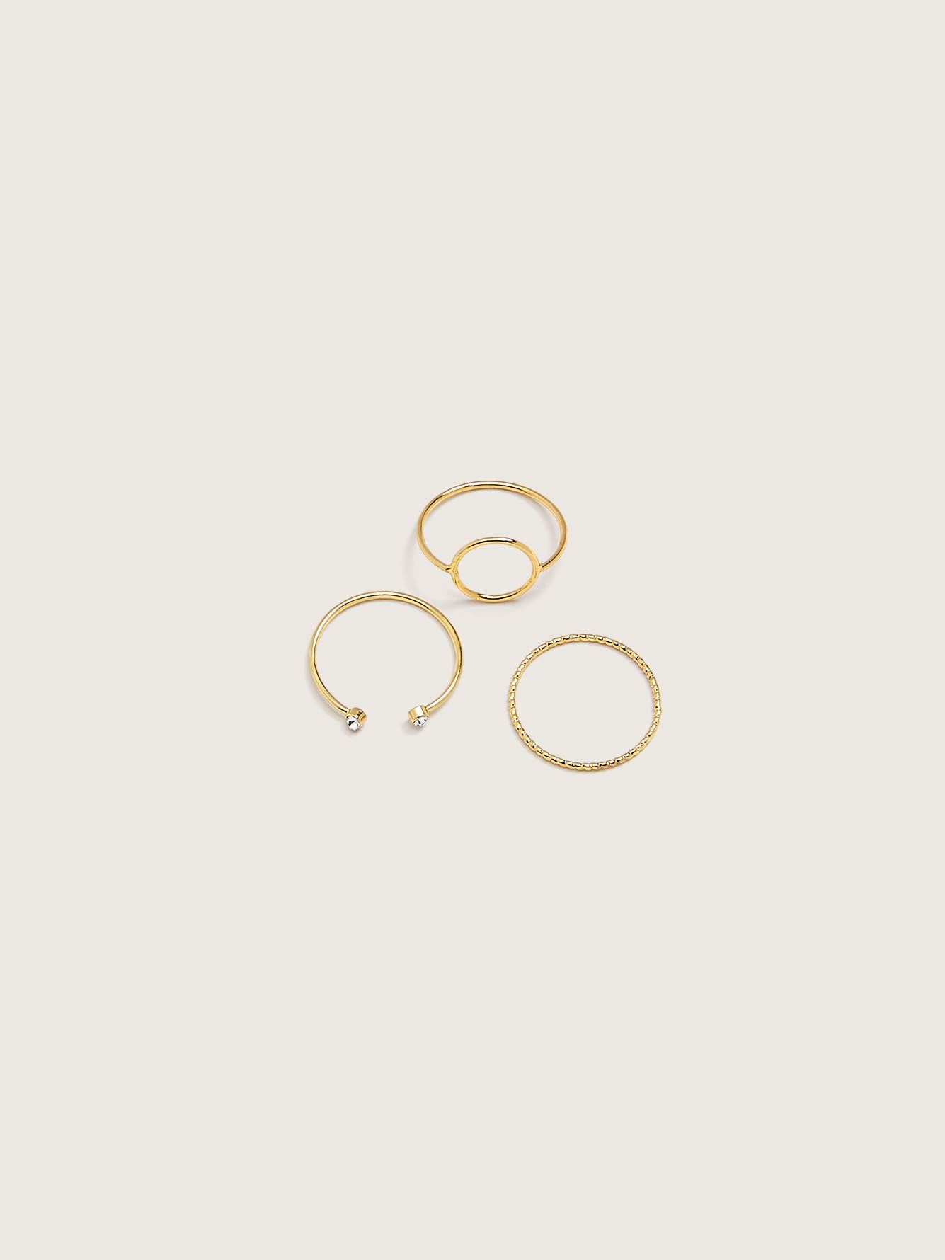 Pack of 3 Minimalist Stackable Rings - Addition Elle
