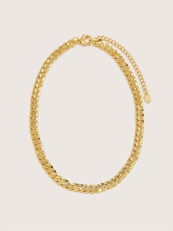Plated Chunky Chain Necklace - Addition Elle