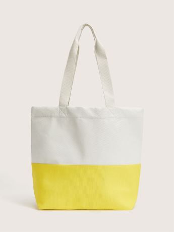 Colour Block Canvas Beach Bag - Addition Elle