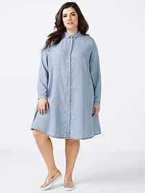 Button-Down Swing Dress - In Every Story