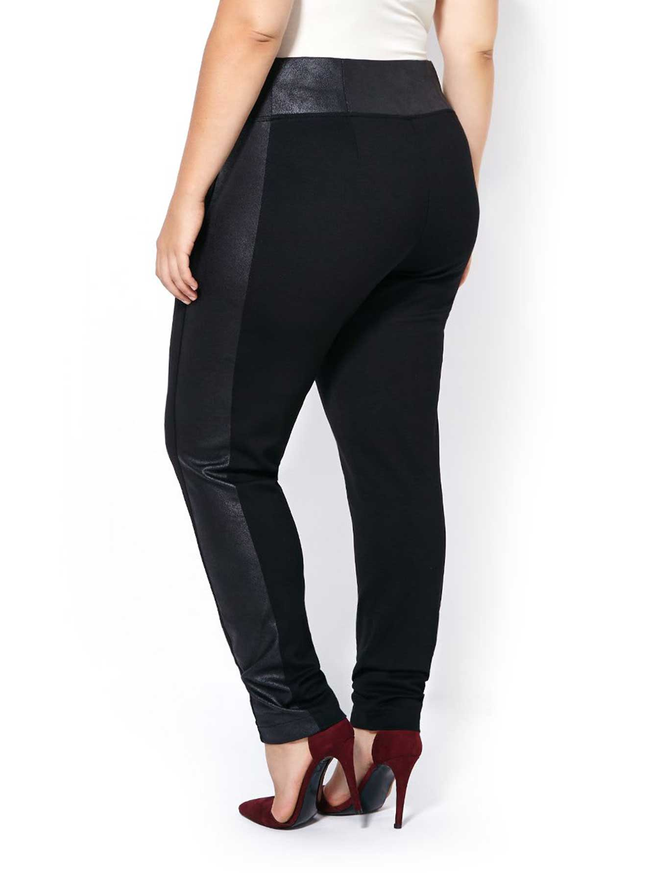 Ponte de Roma Legging with Faux-Leather