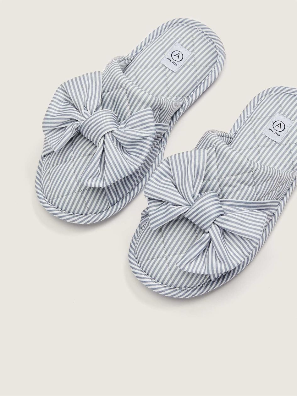 Wide Fit Slippers With Bow - Addition Elle