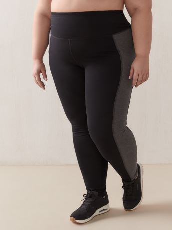 Legging With Side Colour-Blocking - Active Zone