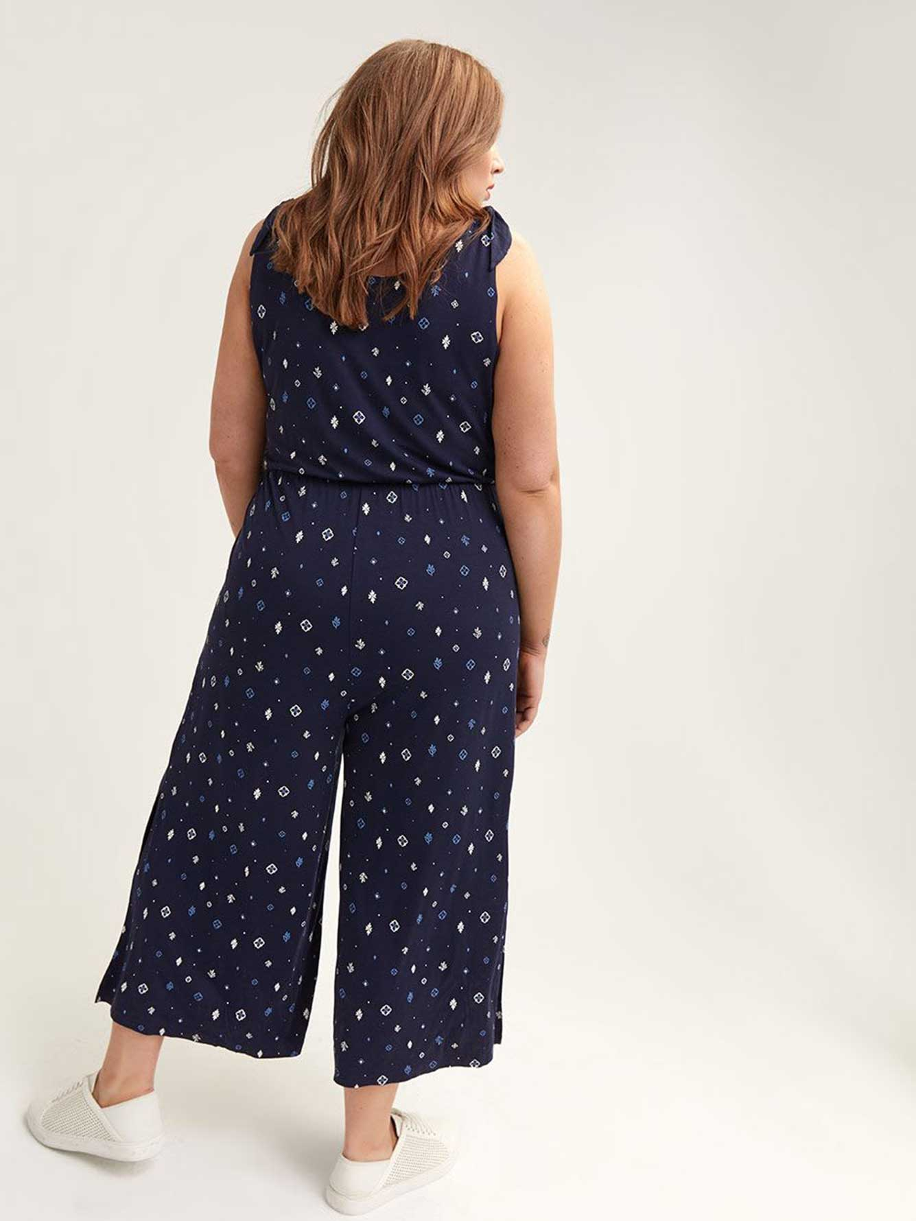 Cropped Wide-Leg Jumpsuit