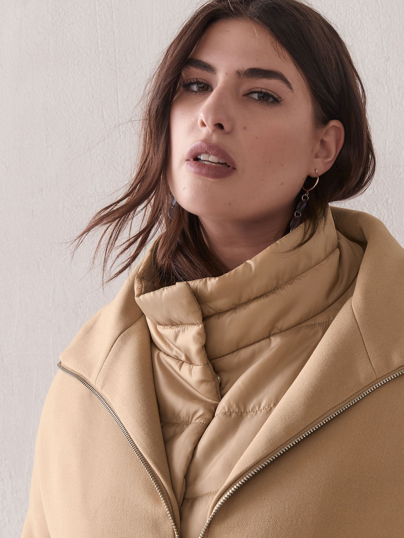 Woven Cocoon Coat - Addition Elle