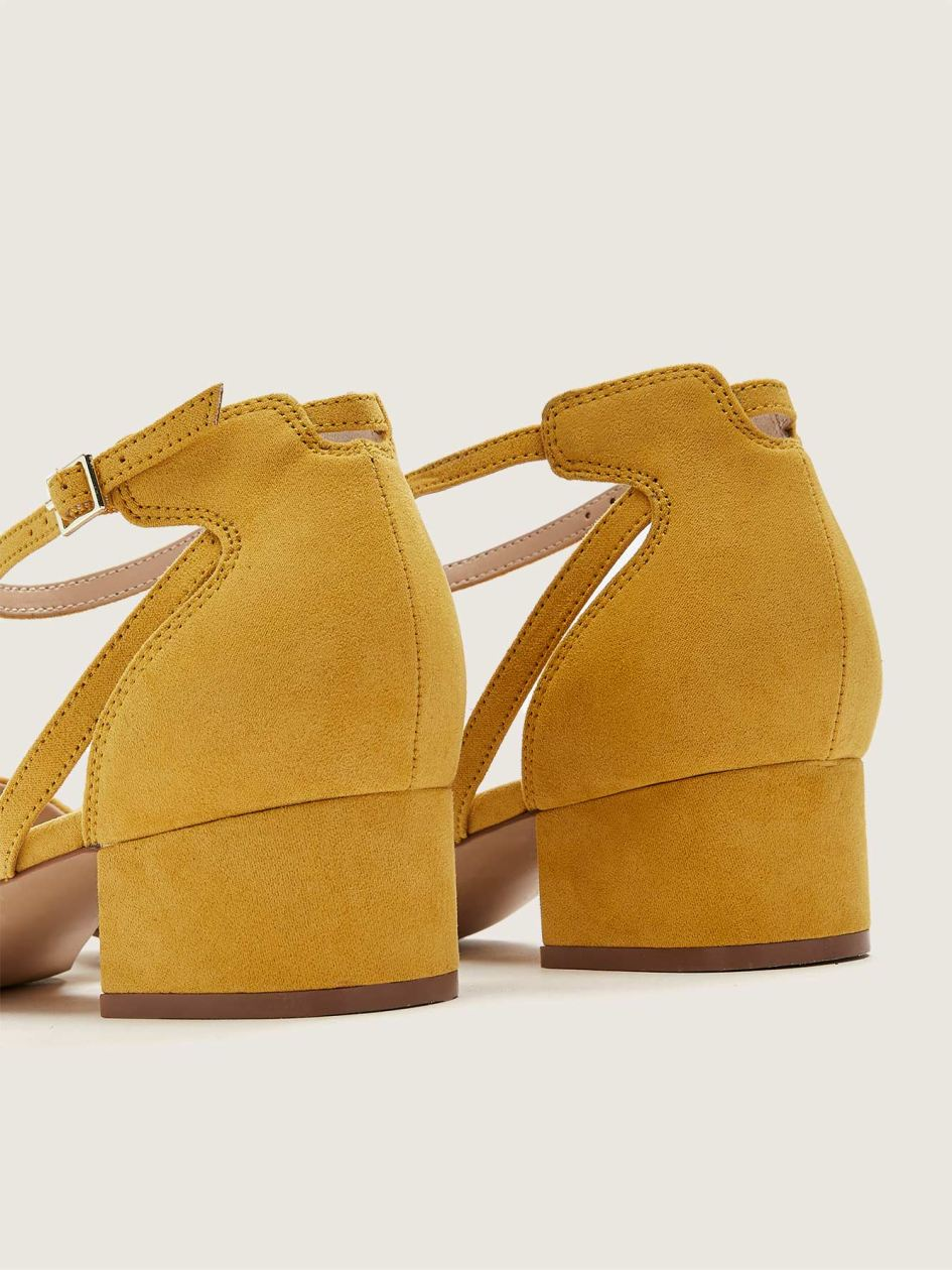 Wide-Width Microsuede Shoe With Ankle Strap - Addition Elle
