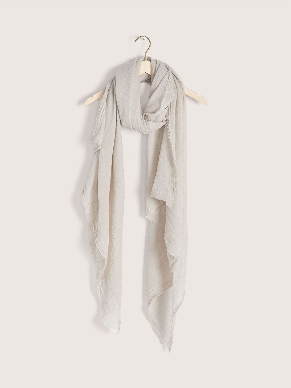 Light Frayed Edge Scarf - Addition Elle