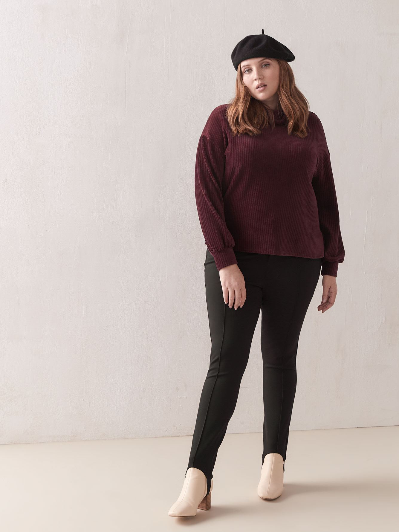 Ribbed Velvet Turtleneck - Addition Elle