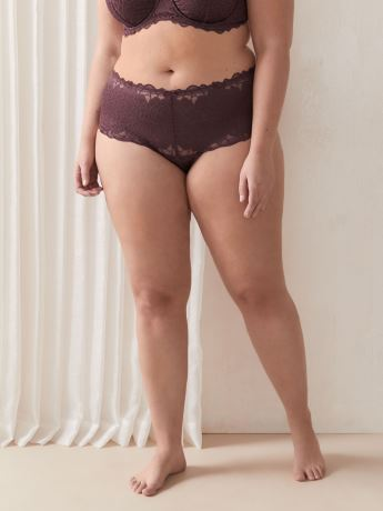 Microfiber Femme Couture Panty With Lace - Déesse Collection