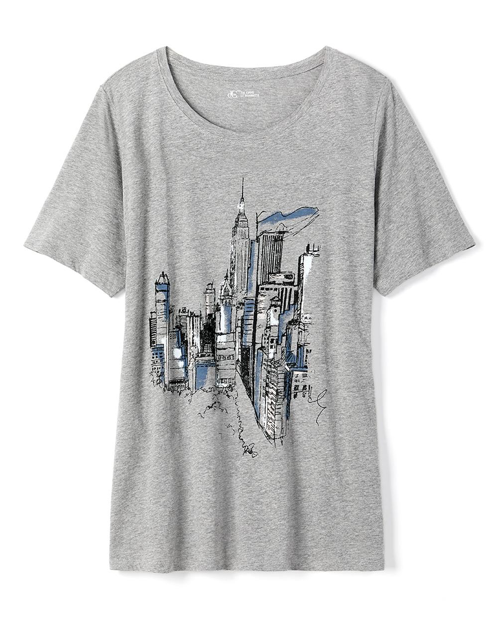 Printed Curve Fit T-Shirt - d/C JEANS