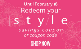 Redeem your style savings coupon