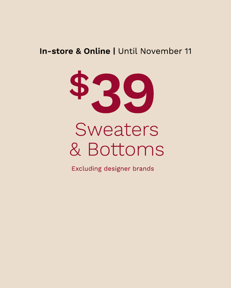 Shop sweaters and bottoms