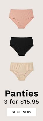 Panties 3 for $15.95