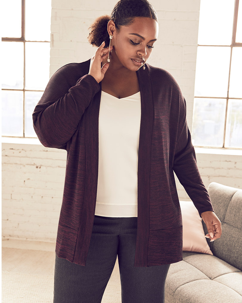Cardigan ouvert cocon
