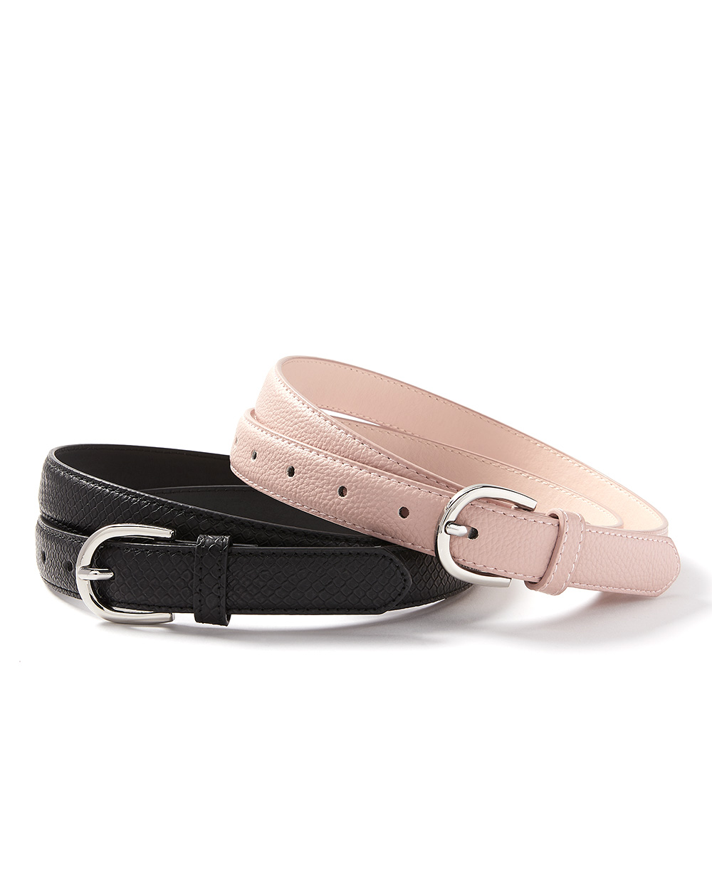 Faux-Leather Set of 2 Belts