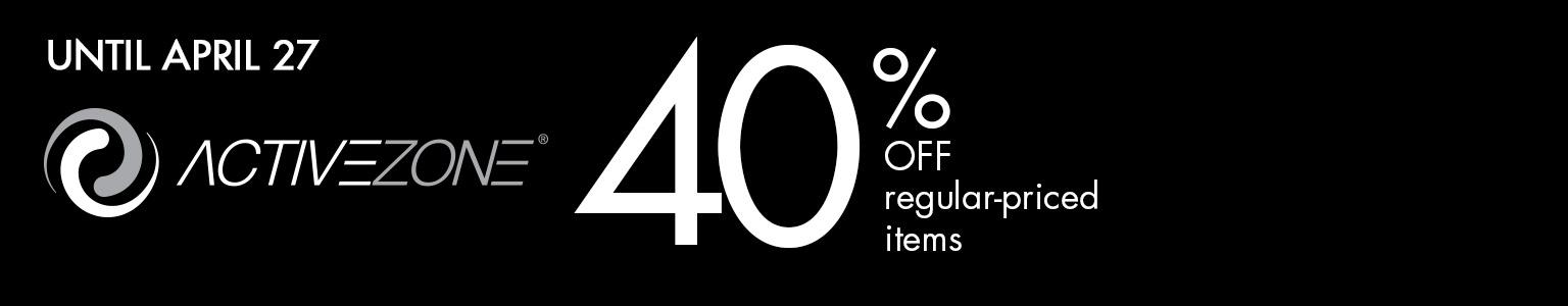 April 23 - 27 40% off regular-priced items