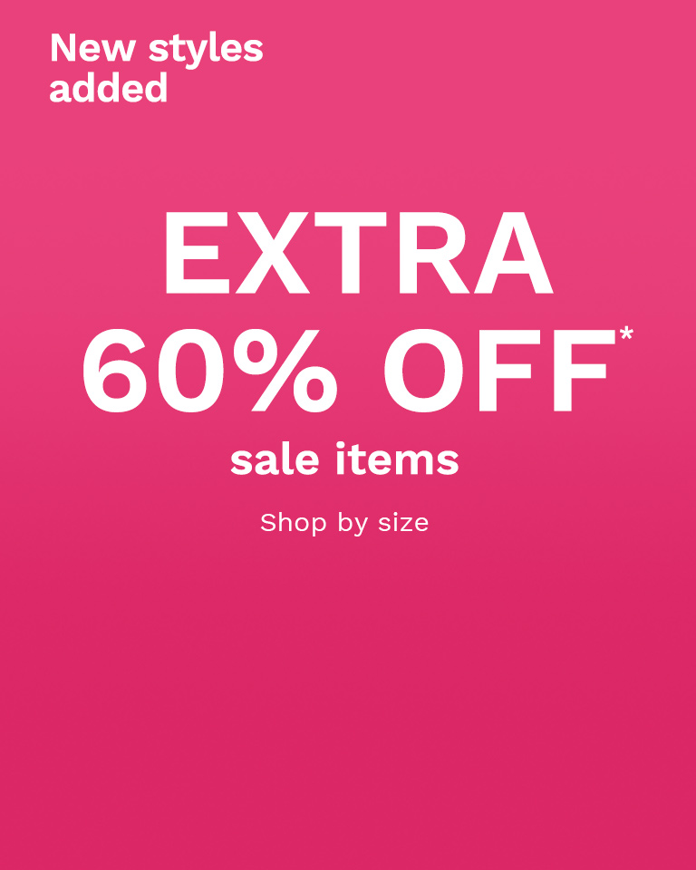Extra 60% off* sale items