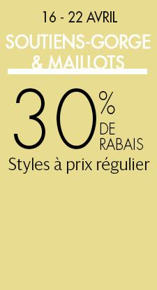 BSOUTIENS-GORGE & MAILLOTS: 30 % DE RABAIS