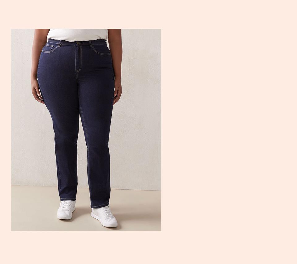 Petite, Curvy Straight-Leg Jeans - d/c JEANS