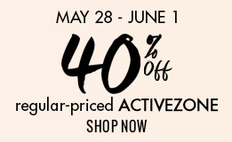 40% off all regular-priced ActiveZone