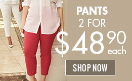 Pants 2 for $48.90