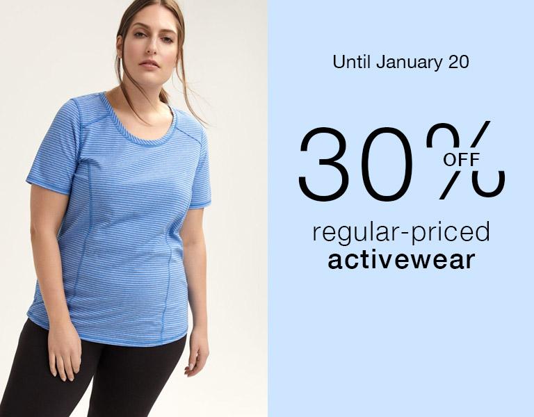 30% off Regular-priced activewear