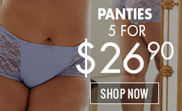 Panties: 5 for $26.90