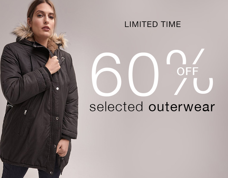 60% off selected outerwear