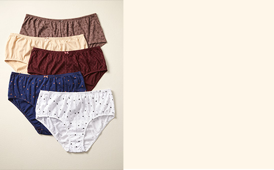 Cotton panties 3 for $18.95